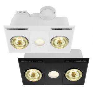 L2U-1151 3in1 Bathroom 2 Heat, Light and Exhaust Fan Range