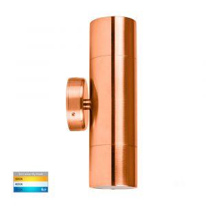 copper LED wall light