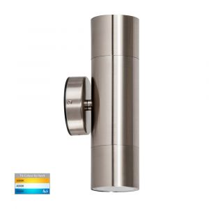 L2U-4625 Stainless Steel Up/Down 240v Wall Pillar Light