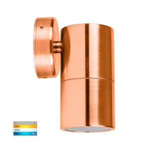 L2U-425 Copper Fixed Single 12v/240v Wall Pillar Light