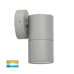 L2-753 Silver Fixed Single 12v/240v Wall Pillar Light