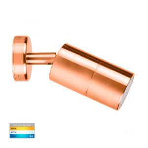 L2U-432 Solid Copper Single Adjustable 12v/240v Wall Pillar Light