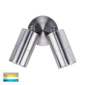 L2U-439 Marine Grade 316 Stainless Steel Double Adjustable 12v/240v Wall Pillar Light
