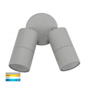 L2-765 Silver Double Adjustable 12v/240v Wall Pillar Light