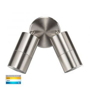 L2U-4628 Stainless Steel Double Adjustable 240v Wall Pillar Light