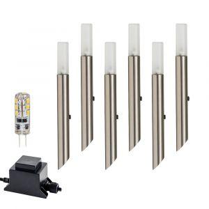 L2U-4683 6 Pack 316ss 12v LED Garden Spike Light