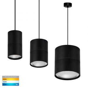 L2-1802 Round Black LED Pendant Light Range