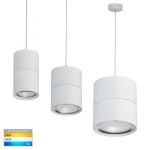 L2-1803 Round White LED Pendant Light Range