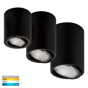 DL5812 Black Adjustable Surface Mounted LED Downlight Range