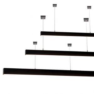 L2-1797 High Output Black LED Linear Pendant Light - 60mm x 70mm (1.8m to 3m)