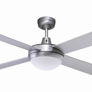 Martec Lifestyle 1300 Ceiling Fan with 2 x E27 Light Kit - Silver