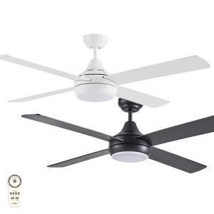 """Link 1220mm (48"""") DC 4 Blade Ceiling Fan with LED Light & Remote"""