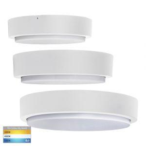 L2U-9240 Tri-Colour LED Oyster Light Range - White