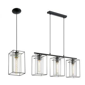 L2-1734 Black / Smoked Glass Pendant Light Range