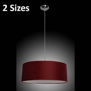 L2-1603 Red Fabric Drum Pendant Light Range