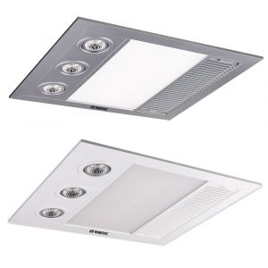 L2U-191 Linear Mini High Extraction LED 3in1 Bathroom Heater, Light and Exhaust Fan
