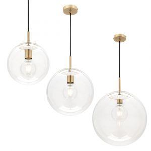 L2-1959 Clear Glass Sphere Pendant Light Range from