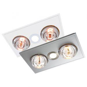 L2U-1106 Myka 3in1 Bathroom LED Downlight, 2 Heat and Exhaust Fan