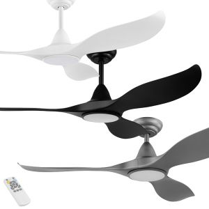 "Noosa 1320mm (52"") DC ABS Blades Ceiling Fan with LED Light & Remote"