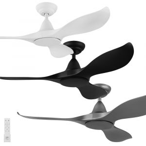 """Noosa 1168mm (46"""") DC ABS 3 Blade Ceiling Fan with Remote"""