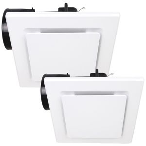 L2U-197 Square White Exhaust Fan Range from