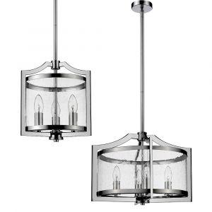 L2-11436 Chrome Lantern Pendant Light Range