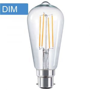 4w ST64 Pear Dimmable LED Filament Lamp - B22 Base