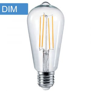 4w ST64 Pear Dimmable LED Filament Lamp - E27 Base