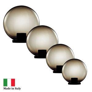 L2U-4387 Polycarbonate Smoke Sphere Post Top - 4 Sizes