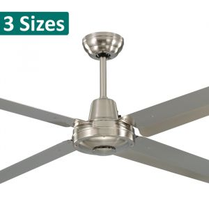 Precision Brushed Nickel Stainless Steel Ceiling Fan from