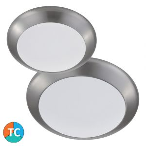 L2U-1010 Tri-Colour LED Oyster Light Range - Aluminium