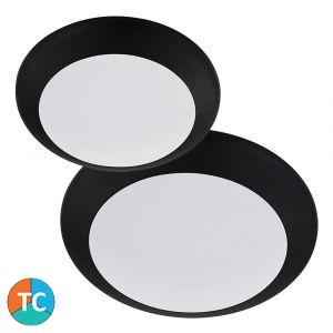 L2U-1010 Tri-Colour LED Oyster Light Range - Black