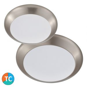 L2U-1010 Tri-Colour LED Oyster Light Range - Satin Nickel