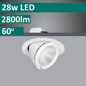 28w DLS9535 Adjustable, Rotatable LED Shoplight