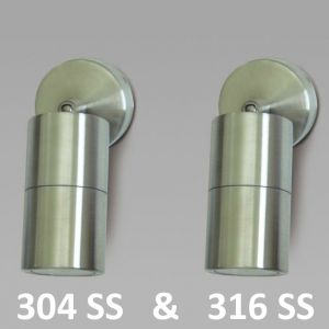 L2U-4168 Single Adjustable Stainless Steel Wall Lights from