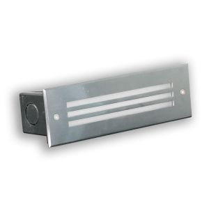 L2U-4505 Stainless Steel Recessed Step Light with Grill