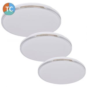L2U-9183 Slim Design Tri-Colour LED Ceiling Light - Chrome