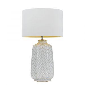 L2-5428 White Ceramic Base Table Lamp