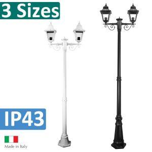 L2U-4347 Paris Traditional Double Head Post Light Range