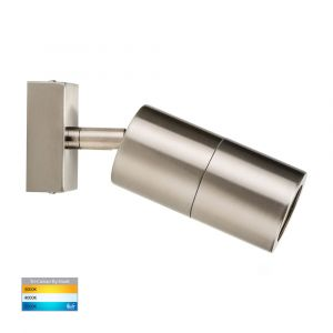 L2U-436 Stainless Steel Single Adjustable 240v Wall Pillar Light