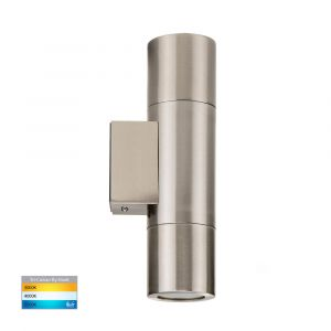L2U-418 Stainless Steel Up/Down 240v Wall Pillar Light