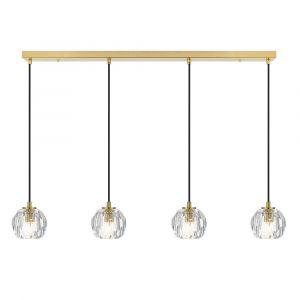 L2-11450 4-Light LED Bar Pendant Light - Antique Gold